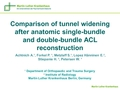 Comparison of tunnel widening after single-bundle and anatomic double-bundle ACL reconstruction