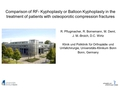Comparison of RF-kyphoplasty or balloon kyphoplasty in treatment of patient with osteoporotic compression fractures