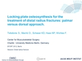 Locking plate osteosynthesis for the treatment of distal radius fractures: Palmar versus dorsal approach