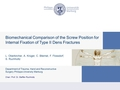 Biomechanical comparison of the screw position for internal fixation of Type II Dens fractures