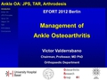 Management of ankle osteoarthritis