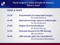 Functionality in rheumatoid hand surgery