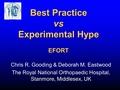 Best practice versus experimental hype
