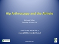 Hip arthroscopy and the athlete