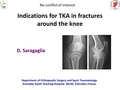 Indications for total knee arthroplasty in fractures