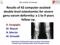 Results of 42 computer-assisted double level osteotomies for severe genu varum deformity: A 1 to 9 years follow-up