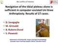 Navigation of the tibial plateau alone is sufficient in computer-assisted Uni Knee Arthroplasty. Results of 27 cases