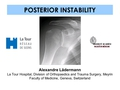 Posterior instability