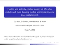 Health and activity-related quality of life after mobile and fixed bearing medial unicompartmental knee replacement