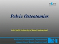 Osteotomies around the hip: Pelvic osteotomies