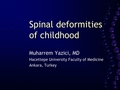 Spine deformities in the childhood