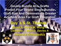 Double bundle ACL grafts predict four strand single bundle graft size and demonstrate greater available area for graft integration