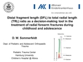 Distal fragment length (DFL) to total radial length (TRL) ratio as a decision-making tool in the treatment radial of forearm fractures during childhood and adolescence