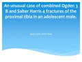 An unusual case of combined Ogden 3 B and Salter Harris 4 fractures of the proximal tibia in an adolescent male