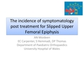 The incidence of symptomatology following treatment of slipped upper femoral epiphysis