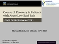 Course of recovery in patients with acute low back pain - does depression matter?