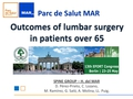 Clinical outcomes of lumbar surgery in patients over sixty-five