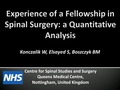 Experience of a fellowship in spinal surgery: A quantitative analysis
