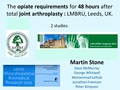 A pilot study of the opiate requirements within the first 48 hours after total joint arthroplasty using continuous or bolus joint infiltration with local anaesthetic