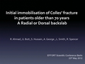 Initial immobilisation of Colles' fracture in patients older than 70 years: A radial or dorsal backslab