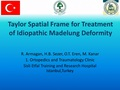 Madelung deformity correction with Taylor Spatial Frame