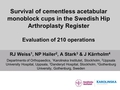 Survival of cementless acetabular monobloc cups in the Swedish Hip Arthroplasty Register: Evaluation of 210 operations