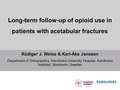 Long-term follow-up of opioid use in patients with acetabular fractures