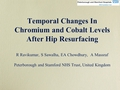 Temporal changes in chromium and cobalt levels after hip resurfacing