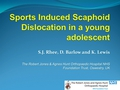 Sports induced isolated scaphoid dislocation in a young adolescent