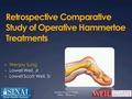 Retrospective comparative study of operative Hammertoe treatments
