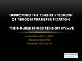 Tensile strength of a novel tendon transfer fixation rechnique - the double ended tendon weave