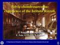 Pelvic chondrosarcoma: Experience of the Istituto Rizzoli