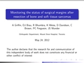 Monitoring the status of surgical margins after resection of bone and soft tissue sarcomas