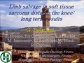 Limb salvage in soft tissue sarcoma distal to the knee: Long term results