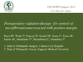 Postoperative radiation therapy for control of myxofibrosarcoma resected with a positive margin