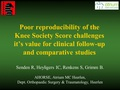 Poor reproducibility of the Knee Society Scores challenges its value for clinical follow-up and comparative studies