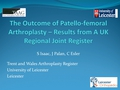 Early outcomes of patellofemoral replacement in isolated patellofemoral arthitis. Results from the Trent region, UK