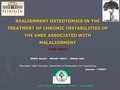 Realignment osteotomies in the treatment of chronic instabilities of the knee associated with malalignement