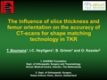The influence of slice thickness and femur orientation on the accuracy of CT-scans for shape matching technology in TKR