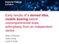 Early results of the Oxford domed mobile bearing lateral unicompartmental arthroplasty