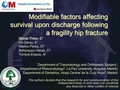 Modifiable factors affecting survival upon discharge following a fragility hip fracture