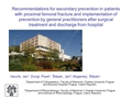Recommendations for secondary prevention in patients with proximal femoral fracture and implementation of prevention  by general practitioners after surgical treatment and discharge from hospital