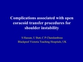 Complications of open coracoid transfer procedures for shoulder instability - a systematic review