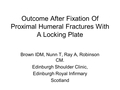 Outcome after fixation of proximal humeral fractures with a locking plate. Functional outcomes at two-years post-injury and medium-terms implant survivorship analysis