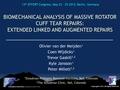 Biomechanical analysis of massive rotator cuff tear repairs - extended linked repairs and augmented repairs
