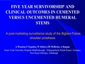 Five year clinical outcomes in cemented versus uncemented humeral stems - a post-marketing surveillance study of the bigliani-flatow shoulder prosthesis