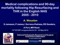 Medical complications and 90-day mortality following hip resurfacing and total hip replacement in the english nhs (2005-2010)