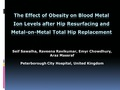 The effect of obesity on blood metal Ion levels after hip resurfacing and Metal-on-Metal total hip replacement