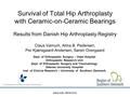 Survival of total hip arthroplasty with Ceramic-on-Ceramic bearings