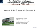 The effect of stem metallurgy on micromovement in cemented total hip arthroplasty: A RSA study